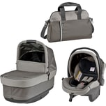 Peg Perego Set für Book S Pop-Up inkl. Wanne Pop-Up Autokindersitz und Wickeltasche Class Navy