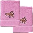 myToys Handtuch 2er Set je 50 x 100 cm Pferd rosa