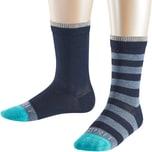 Esprit Kinder Socken Stripe Logo Doppelpack