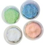 Idena Perlen-Knete Glitter 4er Pack à 33g