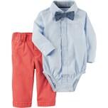 carter`s Baby Set Langarmhemd mit Fliege und Chinohose