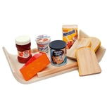 Chr. Tanner Modernes Frühstückstablett mit Spiellebensmittel