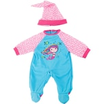 BAYER Kleider für Puppen 40-46 cm: 2-tlg. - Strampler Mütze blaurosa