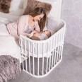 Tobi Beistellbett babybay original weiß lackiert extra belüftet