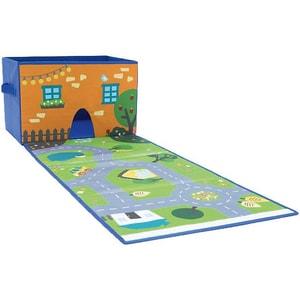 Achoka Spielzeugkiste mit Spielteppich Stadt