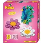 Hama Perlen 3238 Geschenkset 3D-Deko 2.500 midi-Perlen und Zubehör