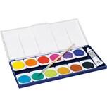 Staedtler NORIS Deckfarbkasten 12 Farben Deckweiß