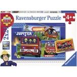 Ravensburger 2er Set Puzzle je 24 Teile 26x18 cm Feuerwehrmann Sam: Wasser marsch mit Sam