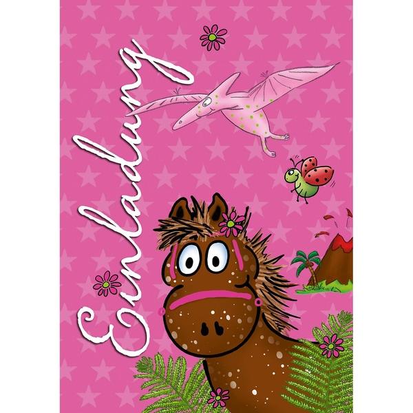 Grätz Verlag Einladungspostkarten Pferde 8 Stück