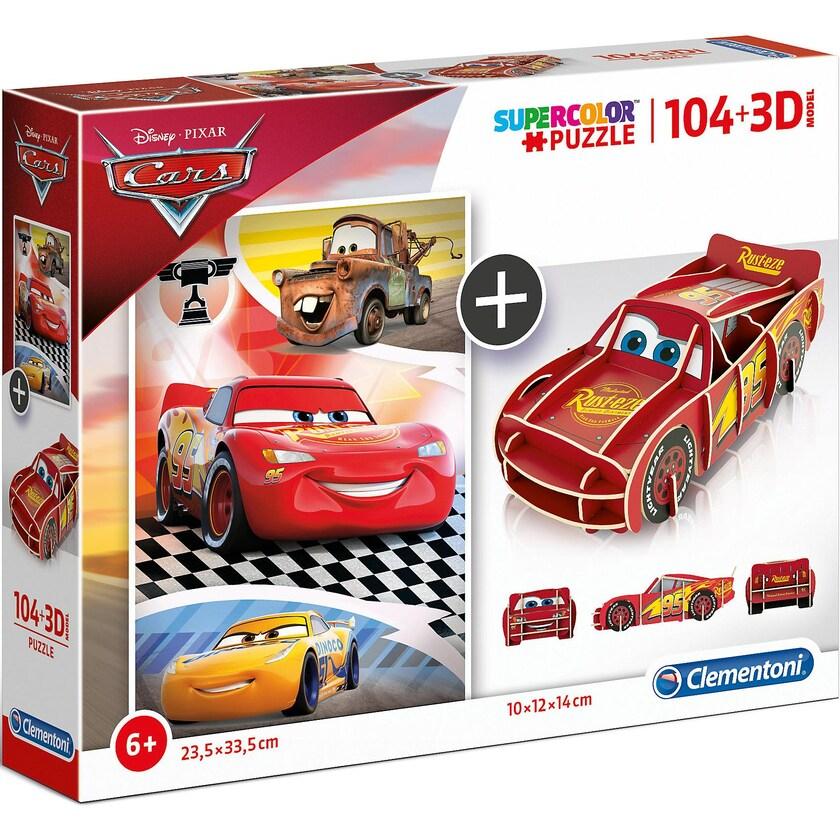 Clementoni Puzzle 104 Teile 3D Modell Cars