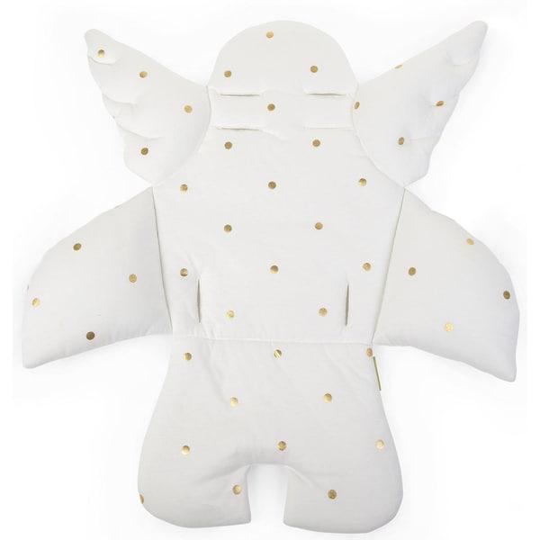 Childhome Sitzkissen Engel Punkte gold weiß