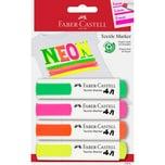 Faber-Castell Textilmarker neon 4 Farben