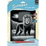 Mammut Spiel und Geschenk Kratzbild Scraper Löwe silber