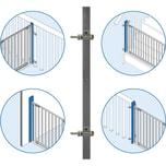 Reer StairFlex Geländerbefestigungsset anthrazit