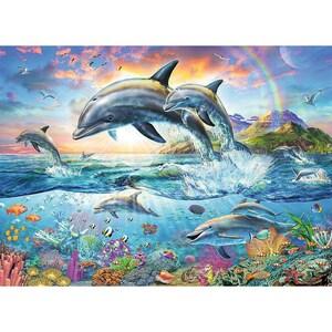 Ravensburger 2-tlg. Puzzle Malbuch Set 100 Teile XXL 49x36 cm Bunte Unterwasserwelt