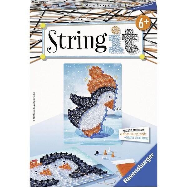 Ravensburger 2er-Set Faden-Bild String It Mini 16X22 cm Pinguine