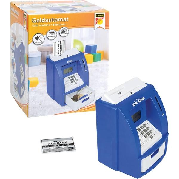 Idena Geldautomat digitale Spardose Sound blau