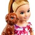 Mattel Barbie Hunde-Welpen Spielset mit Stacy Puppe Hunde-Haus und Zubehör