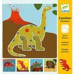DJECO Schablonen - Dinosaurier
