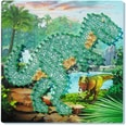 Ravensburger 2er-Set Faden-Bild String it Midi 27x27 cm Dinosaurier