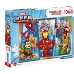 Clementoni Puzzle 104 Teile Maxi - Superhero