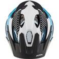 Alpina Fahrradhelm Carapax white-black-blue
