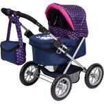 myToys-COLLECTION Puppenwagen Trendy Elefanten Motiv blaupink von Bayer
