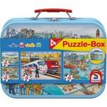 Schmidt Spiele Metall Puzzlekoffer Verkehrsmittel 2x26 2x48 Teile