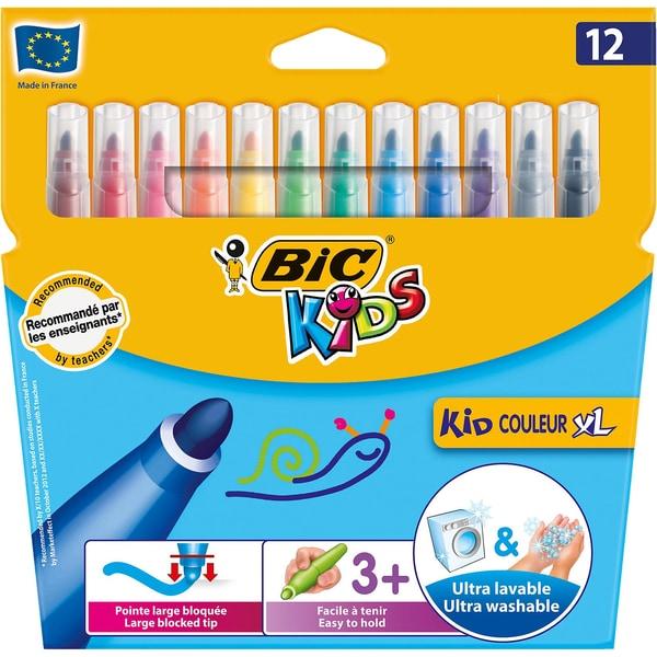 BIC Kids Kid Couleur XL Filzstifte 12 Farben