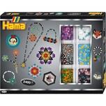 Hama Perlen 3714 Kreativbox gestreifte Perlen 2.400 midi-Perlen Zubehör