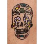 Tattoo-Stones Größe M Motiv Blütenschädel