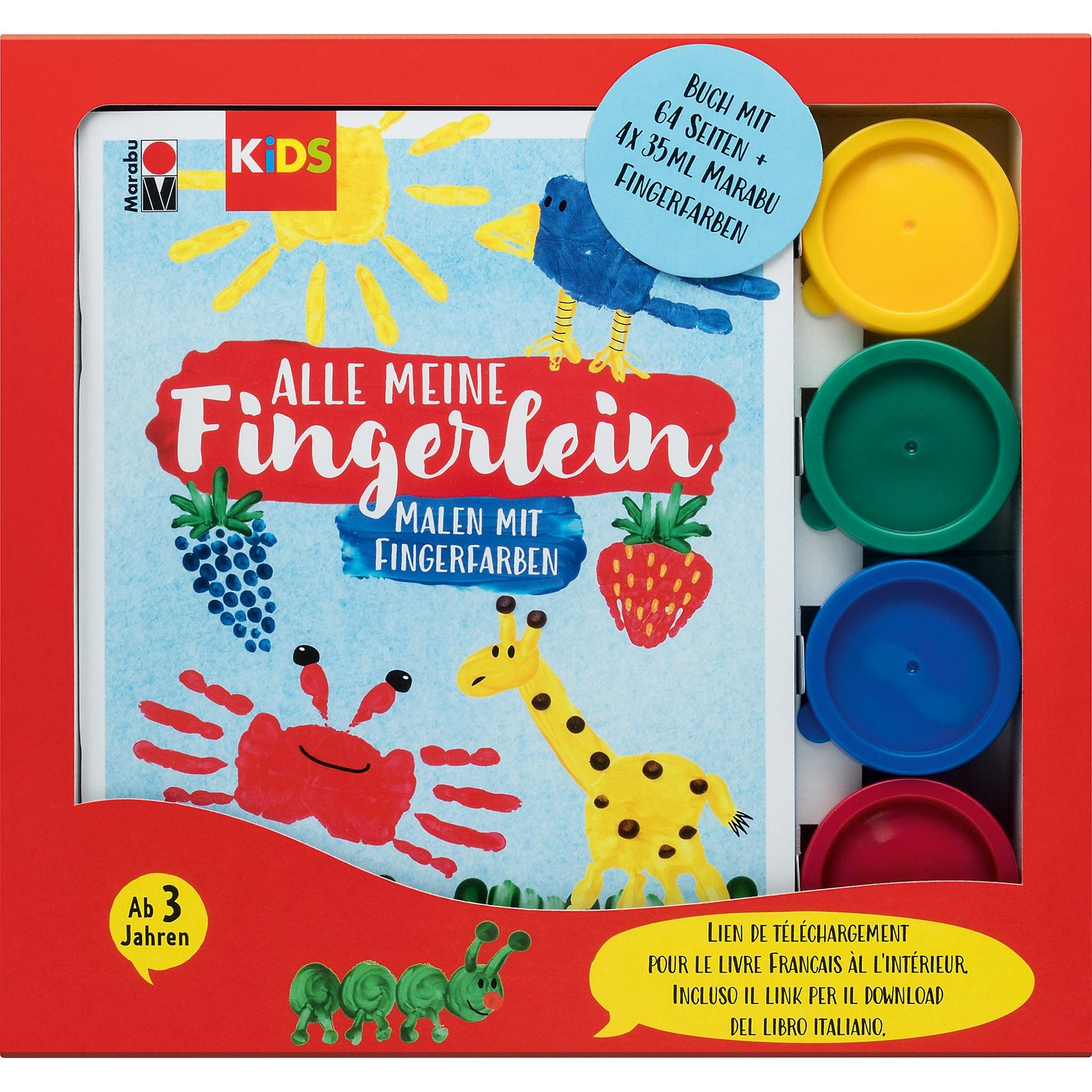 Auswaschbar Malinos Fingermalfarben Finger Farben 6er Pack Ab 2
