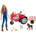 Mattel Barbie Bäuerin Puppe und Traktor Spielset