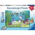 Ravensburger 2er Set Puzzle je 12 Teile 26x18 cm Auf dem Meeresgrund