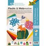 Folia Flecht- Webmotive Set XMAS DIN A4 12 Blatt sortiert inkl. 160 Papierstreifen