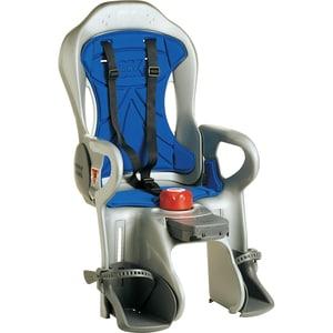 OK Baby Fahrrad-Sicherheitssitz Sirius inkl. Befestigungssystem, silbergrau/blau