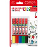 Marabu KIDS Porzellan- & Glasmalstifte Maxi Fun, 5 Stück