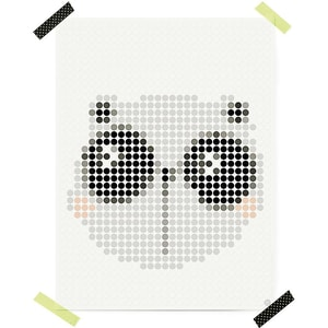Dot On Art Cute Pandi 30 X 40 cm