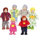 Hape Puppenhauszubehör Holzbiegepuppen Familie