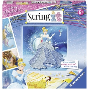 Ravensburger 2er-Set Faden-Bild String it Midi 27x27 cm Disney Princess