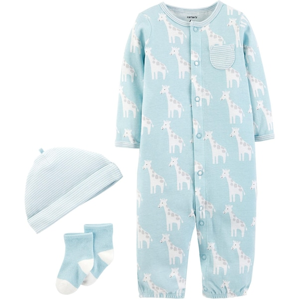 carter`s Baby Set Schlafanzug Jerseymütze Erstlingssocken