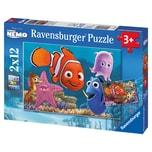 Ravensburger 2er Set Puzzle je 12 Teile 26x18 cm Disney Finding Nemo