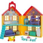 Jazwares Peppa Pig - Multipack Peppa's Familienhaus mit rotem Auto 4 Spielfiguren