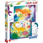 Clementoni Puzzle 2x20 Teile Funny Dinos
