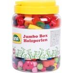 LENA Jumbo Box Holzperlen ca. 500 Perlen