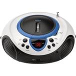 Lenco SCD-38 USB blau - Boombox CD-MP3-Player mit Radio und USB-Anschluss
