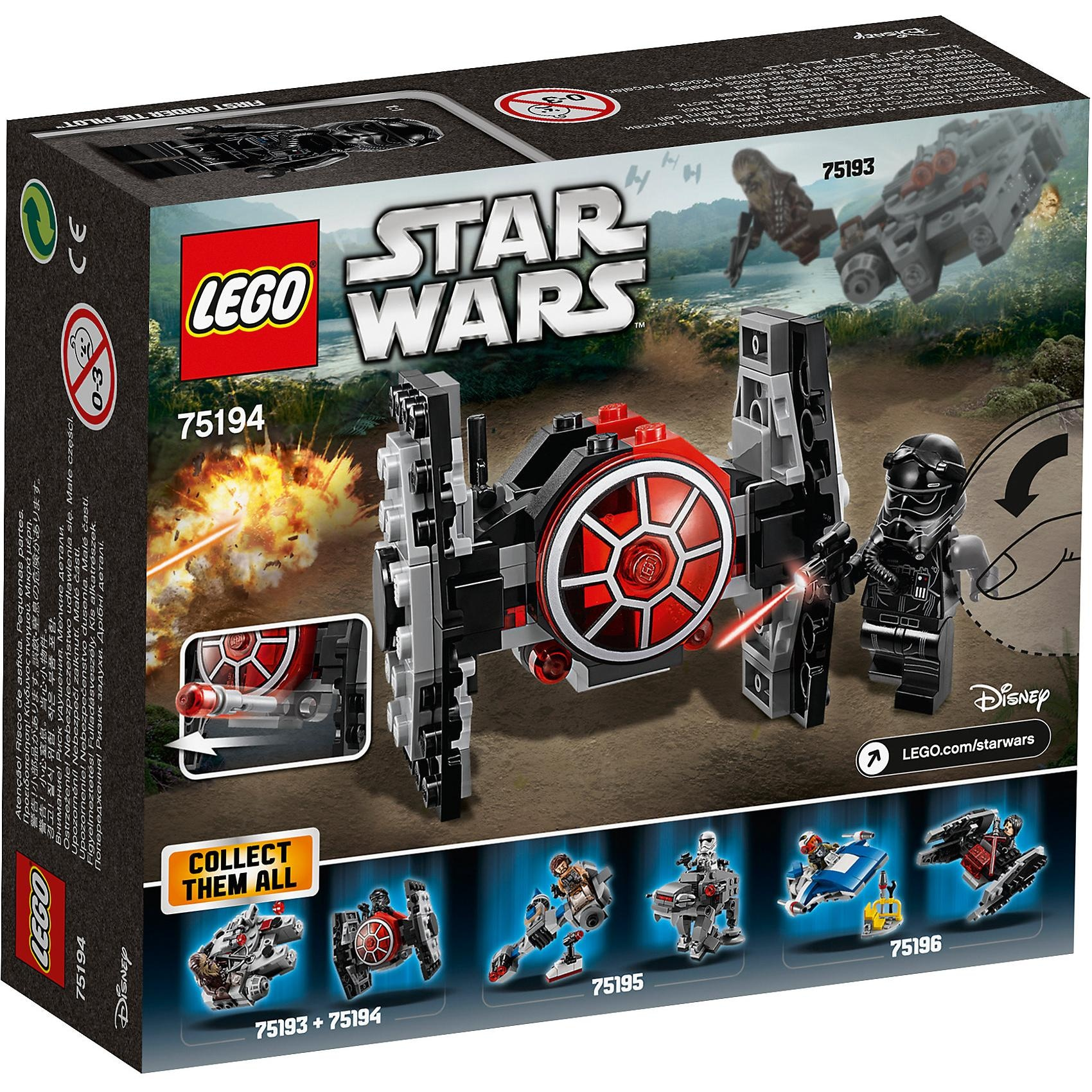 Lego Star Wars 75194 First Order Tie Fighter Microfighter