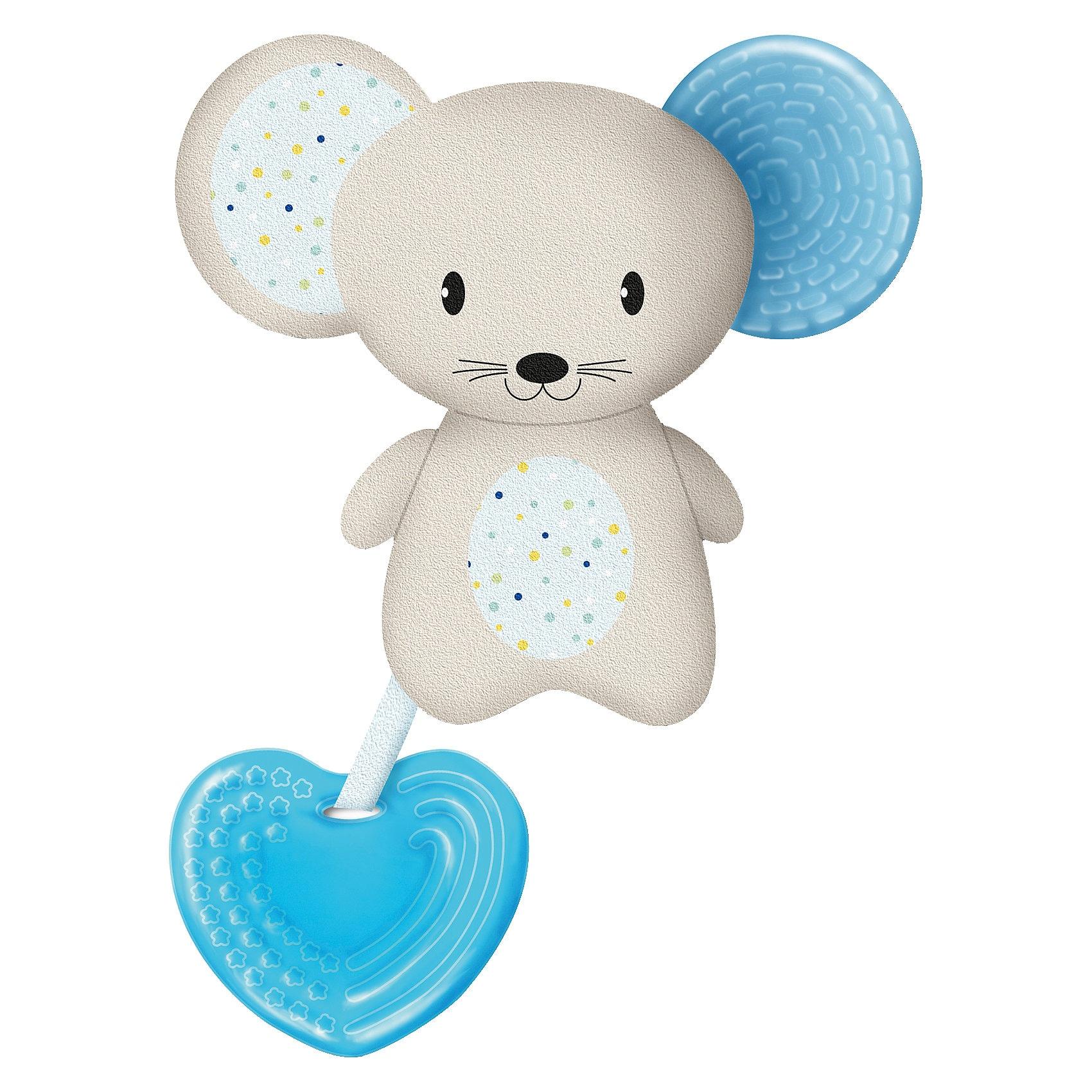 Chicco Beißring Softtierchen Fresh Friends mit abnehmbarem Beißring Boy Maus blau