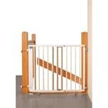 Geuther Treppenschutzgitter schwenkbar Buche massiv weiß lackiert 95-135 cm