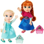 Jakks Pacific Die Eiskönigin Kleine Anna oder Elsa mit Kamm 15 cm